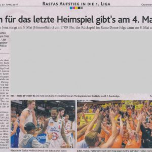 27.04.2016 Oldenburgische Volkszeitung
