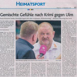 16.12.2018, Oldenburgische Volkszeitung